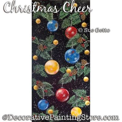 Christmas Cheer PDF DOWNLOAD Painting Pattern - Sue Getto