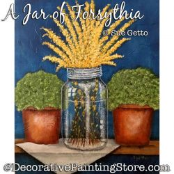 A Jar of Forsythia Painting Pattern PDF DOWNLOAD - Sue Getto