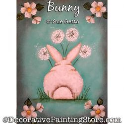 Bunny Painting Pattern PDF DOWNLOAD - Sue Getto
