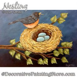 Nesting (Robin Nest) Painting Pattern PDF DOWNLOAD - Sue Getto
