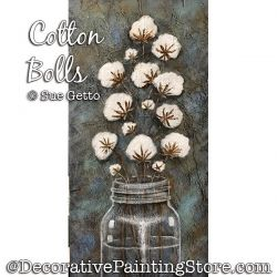 Cotton Bolls Painting Pattern PDF DOWNLOAD - Sue Getto