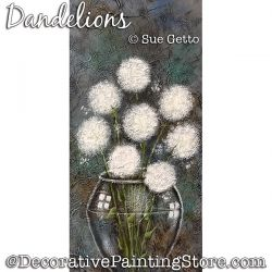 Dandelions Painting Pattern PDF DOWNLOAD - Sue Getto
