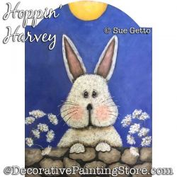 Hoppin Harvey (Bunny) Painting Pattern PDF DOWNLOAD - Sue Getto
