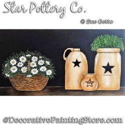 Star Pottery Co Painting Pattern PDF DOWNLOAD - Sue Getto