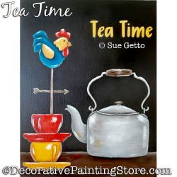 Tea Time Painting Pattern PDF DOWNLOAD - Sue Getto