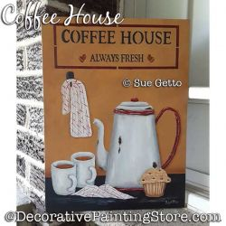 Coffee Time Painting Pattern PDF DOWNLOAD - Sue Getto