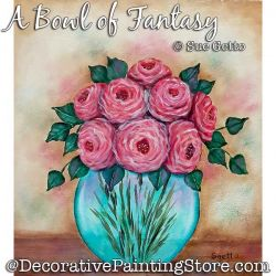 A Bowl of Fantasy Painting Pattern PDF DOWNLOAD - Sue Getto
