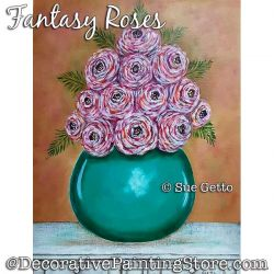 Fantasy Roses Painting Pattern PDF DOWNLOAD - Sue Getto