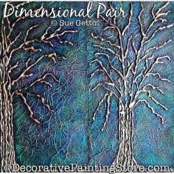 Dimensional Pair (Trees) Painting Pattern PDF DOWNLOAD - Sue Getto