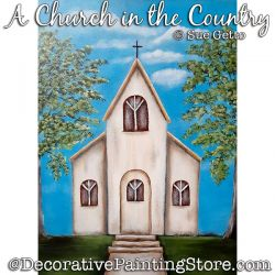 A Church in the Country Painting Pattern PDF DOWNLOAD - Sue Getto