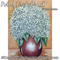 Pot of Bridal Veil Painting Pattern PDF DOWNLOAD - Sue Getto