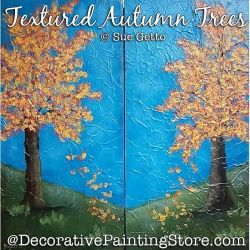 Textured Autumn Trees Painting Pattern PDF DOWNLOAD - Sue Getto