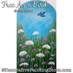 Free As a Bird Painting Pattern PDF DOWNLOAD - Sue Getto