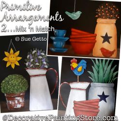 Primitive Arrangements 2-Mix n Match Painting Pattern PDF DOWNLOAD - Sue Getto