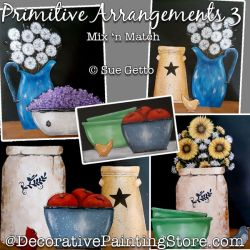 Primitive Arrangements 3-Mix n Match Painting Pattern PDF DOWNLOAD - Sue Getto
