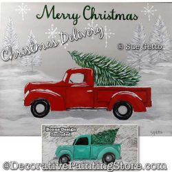 Christmas Delivery (Red Truck) Painting Pattern PDF DOWNLOAD - Sue Getto