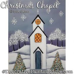 Christmas Chapel Painting Pattern PDF DOWNLOAD - Sue Getto