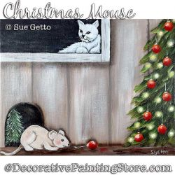 Christmas Mouse Painting Pattern PDF DOWNLOAD - Sue Getto