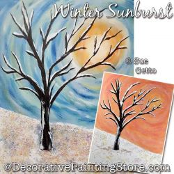 Winter Sunburst Painting Pattern PDF DOWNLOAD - Sue Getto