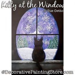 Kitty at the Window Painting Pattern PDF DOWNLOAD - Sue Getto