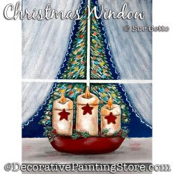 Christmas Window Painting Pattern PDF DOWNLOAD - Sue Getto