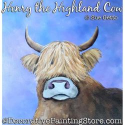 Henry the Highland Cow Painting Pattern PDF DOWNLOAD - Sue Getto