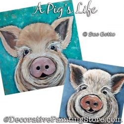 A Pigs Life Painting Pattern PDF DOWNLOAD - Sue Getto