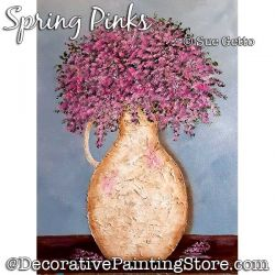Spring Pinks Painting Pattern PDF DOWNLOAD - Sue Getto