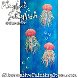Playful Jellyfish Painting Pattern PDF DOWNLOAD - Sue Getto