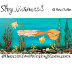 Shy Mermaid Painting Pattern PDF DOWNLOAD - Sue Getto