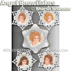Angel Snowflake Ornaments ePattern - Sharon Shannon - PDF DOWNLOAD