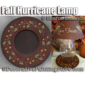 Fall Hurricane Lamp ePattern - Sharon Shannon - PDF DOWNLOAD