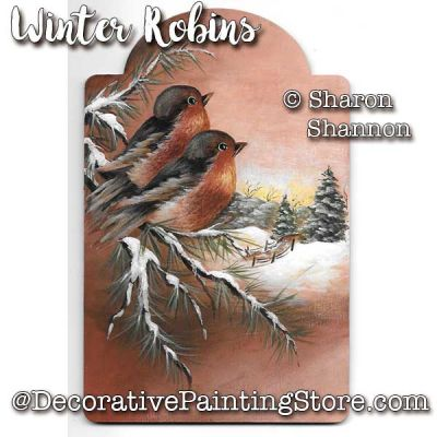 Winter Robins ePattern - Sharon Shannon - PDF DOWNLOAD