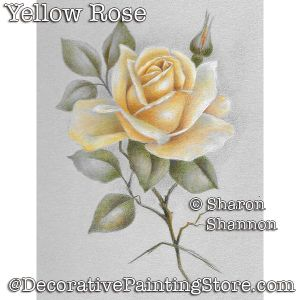 Yellow Rose (Colored Pencil) DOWNLOAD - Sharon Shannon