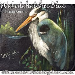 Wakodahatchee Blue (Heron) Painting Pattern PDF DOWNLOAD - Leslie Smith
