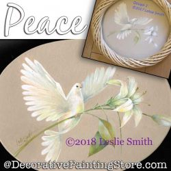 Peace (Dove) Painting Pattern PDF DOWNLOAD - Leslie Smith
