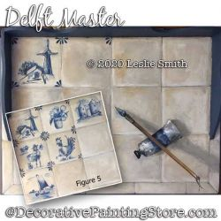 Delft Master Trompe l oeil Painting Pattern PDF DOWNLOAD - Leslie Smith