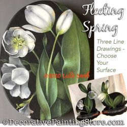 Fleeting Spring (Tulips) Painting Pattern PDF DOWNLOAD - Leslie Smith