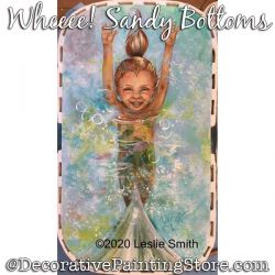 Wheee-Sandy Bottoms (Mermaid) Painting Pattern PDF DOWNLOAD - Leslie Smith