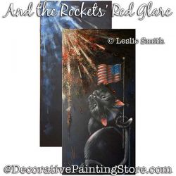 And the Rockets Red Glare (Black Cat) Painting Pattern PDF DOWNLOAD - Leslie Smith