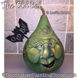 The Old Bat (Witch Gourd) Painting Pattern PDF DOWNLOAD - Leslie Smith