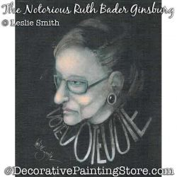 RBG-The Notorious Ruth Bader Ginsburg Painting Pattern PDF DOWNLOAD - Leslie Smith