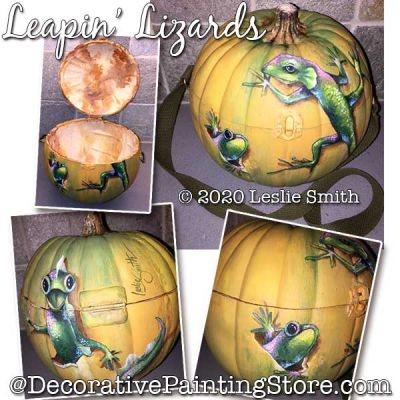 Leapin Lizards Painting Pattern PDF DOWNLOAD - Leslie Smith