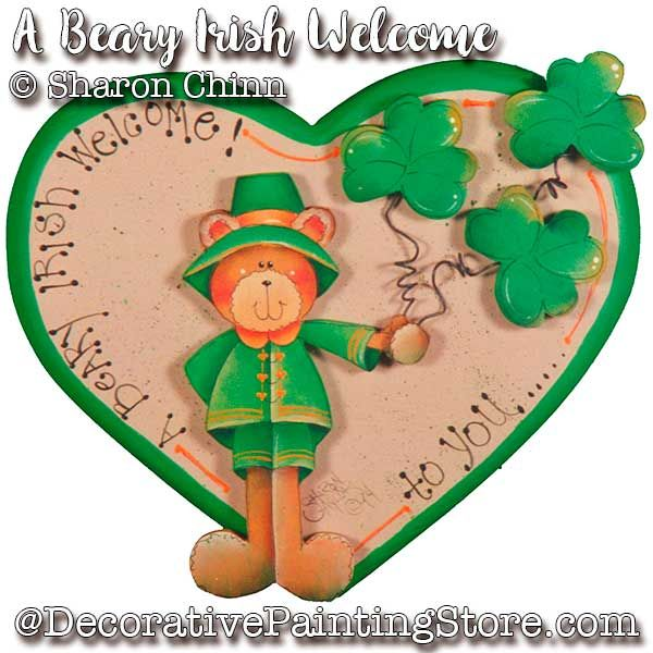 A Beary Irish Welcome Heart DOWNLOAD