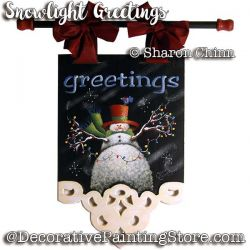 Snowlight Greetings Banner PDF Download Sharon Chinn