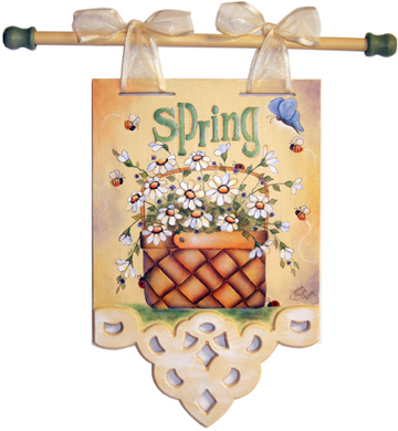 Spring Daisy Basket Banner BY MAIL