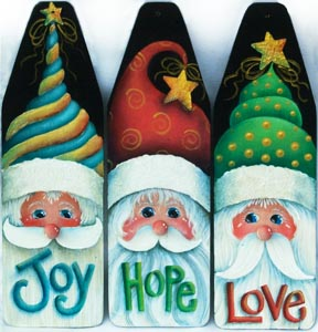 We Three Santas Mini Ironing Board Ornaments - Sharon Chinn - PDF DOWNLOAD
