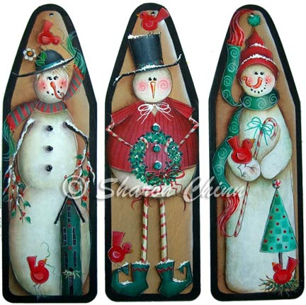 3 Funky Snowmen by Sharon Chinn - BY MAIL