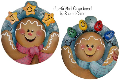 Joy-ful Noel Gingerbread Ornaments BY MAIL