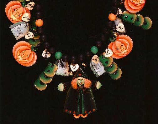 Halloween Necklace PDF Download - Sharon Chinn